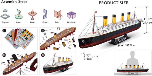 Comprar Puzle 3D LED Titanic CubicFun chollo en Amazon