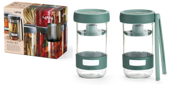 Kit de Utensilios Lékué Pickles para Preparar encurtidos caseros barato en Amazon