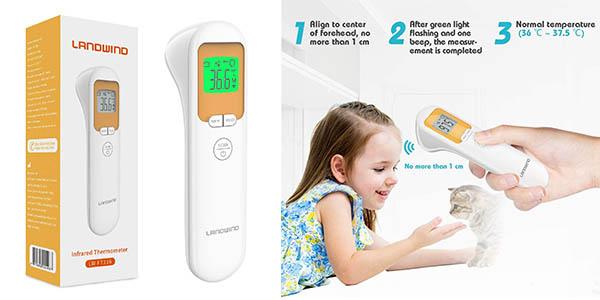 Landwind URF106 termómetro digital por infrarrojos para bebés chollo