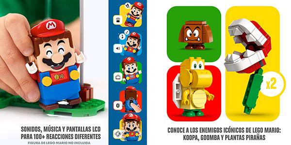 LEGO Super Mario Set de expansión Superderrape planta piraña juego de construcción chollo