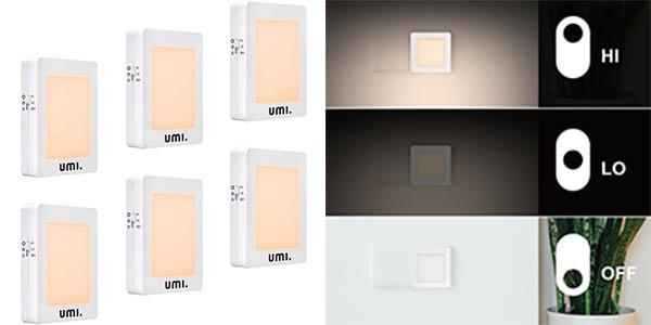 Pack x6 Luz de noche LED Umi. by Amazon