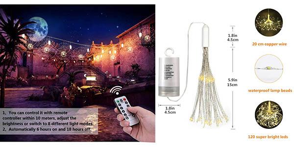 Lukasa luces decorativas efecto fuegos artificiales oferta