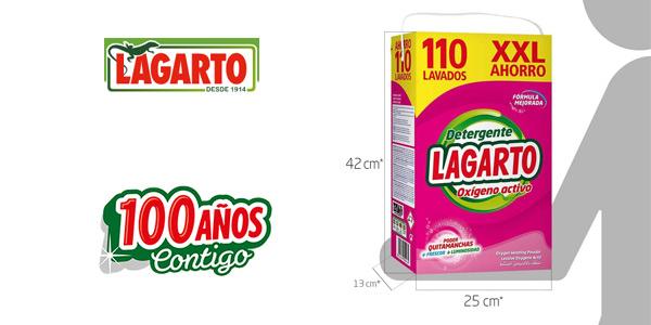 Lagarto Detergente Oxígeno Activo XXL 110 Lavados de 7 kg chollo en Amazon