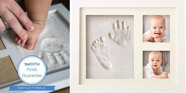Marco de fotos y huella de bebé en arcilla Bubzi Co Set barato en Amazon
