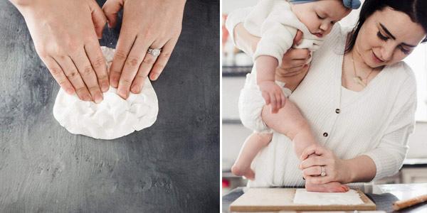 Marco de fotos y huella de bebé en arcilla Bubzi Co Set chollo en Amazon