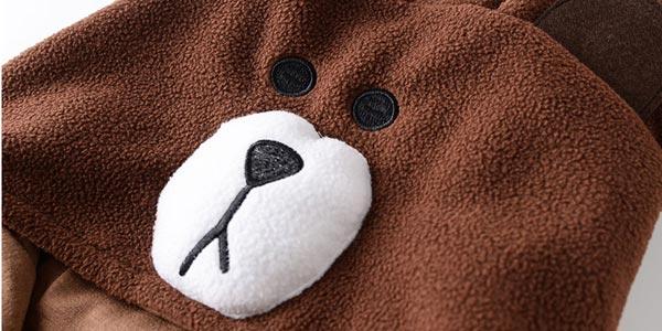 Mono de felpa con capucha de oso squAnch oferta en AliExpress