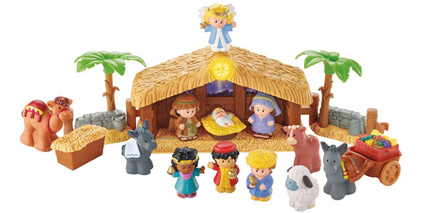 Nacimiento Fisher-Price Little People Belén (Mattel J2404) barato en Amazon