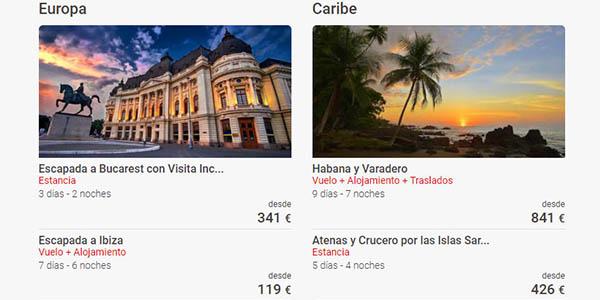 ofertas en viajes Black Friday Destinia 2020