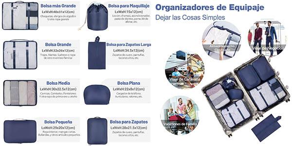 organizadores de equipaje Newdora resistentes a precio de chollo
