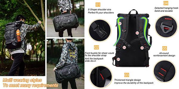 Overmont mochila de viaje para equipaje de cabina oferta