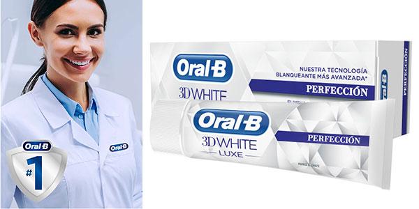 Pack de 12 dentífricos blanqueadores Oral-B 3D White Luxe Perfección de 75 ml barato