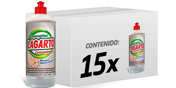Chollo Pack de 15 botes de Lavavajillas Lagarto Concentrado Manos Delicadas de 750 ml