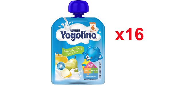 Pack x16 Nestlé Yogolino Bolsita Manzana Pera de 90 gr barato en Amazon