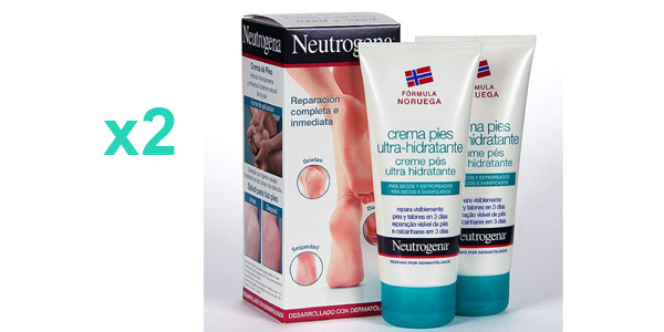 Pack x2 Neutrogena Crema de Pies Ultra Hidratante de 100 ml/ud barata en Amazon