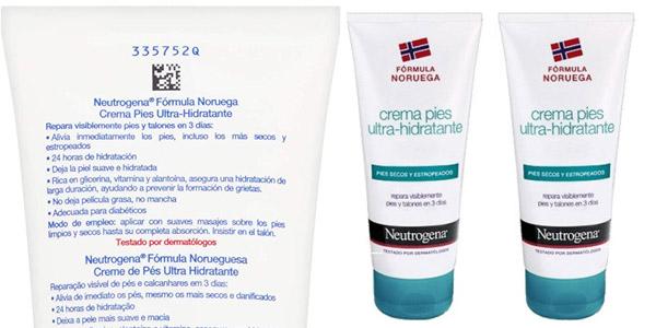 Pack x2 Neutrogena Crema de Pies Ultra Hidratante de 100 ml/ud chollo en Amazon