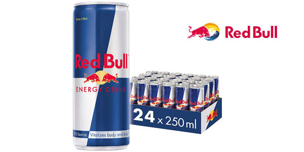Pack x24 Latas Red Bull Energy Drink de 250 ml barato en Amazon