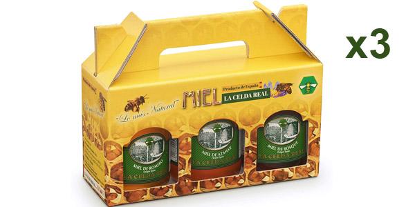 Pack x3 Envases Miel Natural La Celda Real de 500 gr/ud barato en Amazon