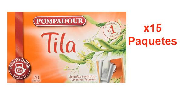 Pack x300 bolsitas Pompadour Té Infusion Tila aprovechando 3x2 barato en Amazon