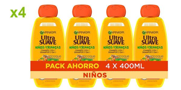 Pack x4 Ultra Suave Garnier Original Remedies niños de 400 ml/ud barato en Amazon