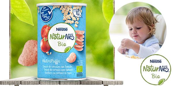 Pack x5 Nestlé Naturnes Bio Nutri Puffs Snack De Cereales Con Tomate, A Partir De 10 Meses de 35g chollo en Amazon