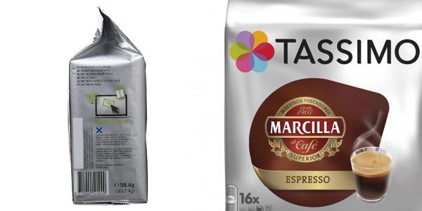 Pack x5 paquetes de 16 cápsulas Marcilla Café Espresso Tassimo chollo en Amazon