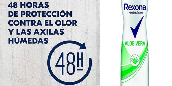 Pack de 6 desodorante Rexona Aloe Vera de 200 ml para mujer barato