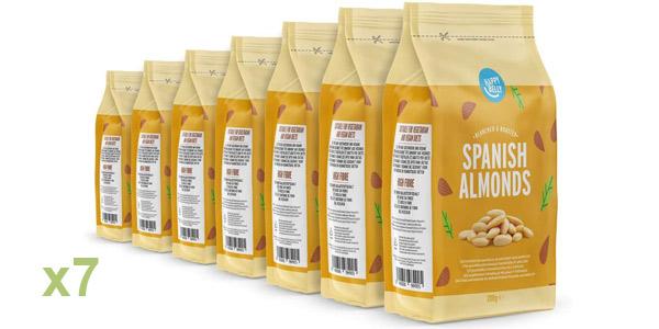 Pack x7 Marca Amazon Happy Belly Almendras españolas de 200gr/ud barato en Amazon