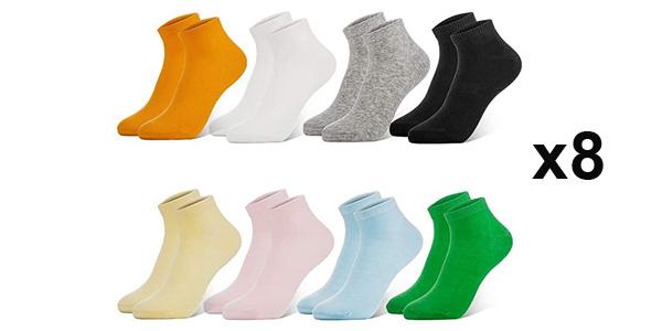 Pack x8 pares calcetines Newdora para mujer baratos en Amazon