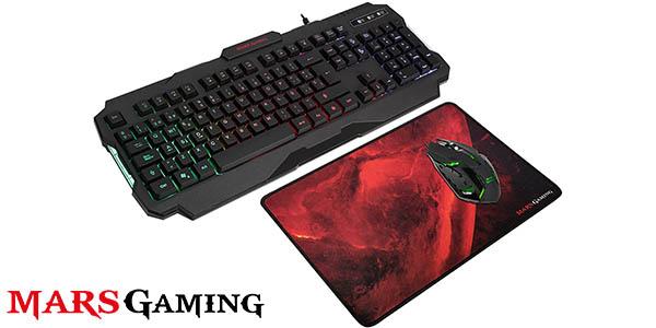 Pack Mars Gaming MCP118 de teclado, ratón y alfombrilla gaming
