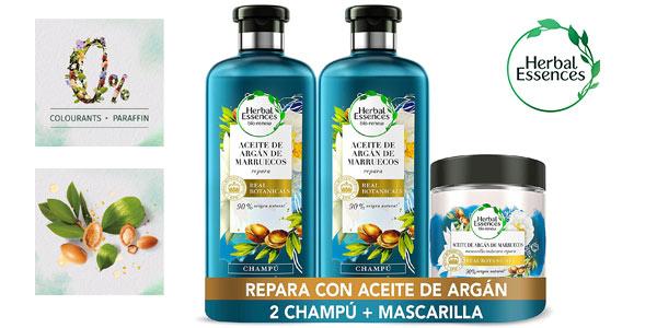 Pack Reparación Herbal Essences Aceite De Argán De Marruecos barato en Amazon