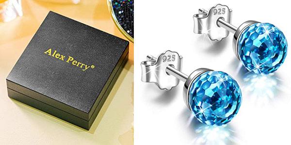 Pendientes Alex Perry con plata de ley y cristales de Swarovski baratos en Amazon