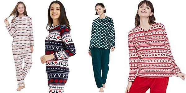 Pijama 2 piezas coralina Pimpam Tex para mujer barato en Amazon