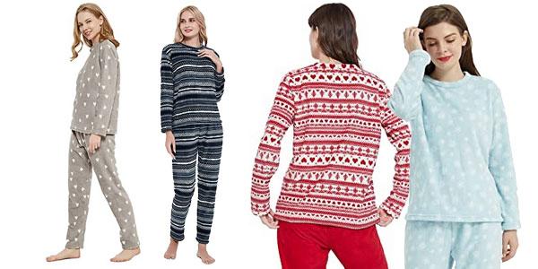 Pijama 2 piezas coralina Pimpam Tex para mujer chollo en Amazon