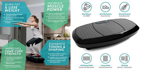 plataforma con vibración para ejercicios de fitness Bluefin chollo