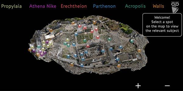 recorrido online de la Acrópolis y el Partenón de Atenas