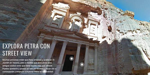 recorrido virtual con audioguía por Petra en Google Earth