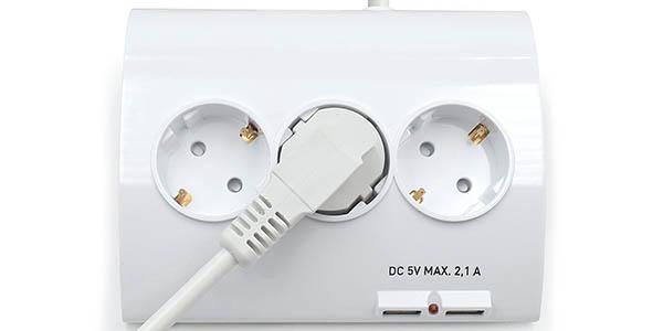 Regleta Ewent EW3935 con 5 tomas y 2 puertos USB barato