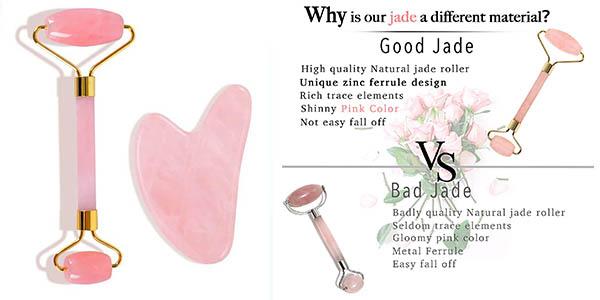 rodillo de jade para masaje facial Roller Face Emocci oferta