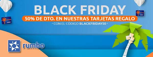 Rumbo tarjetas regalo descuento Black Friday 2020