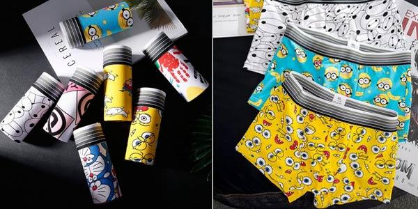 Pack x4 boxers dibujos animados oferta en AliExpress