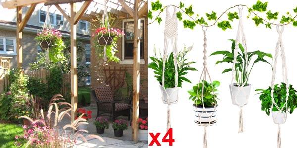 Set x4 Colgadores para Plantas Emooqi baratos en Amazon