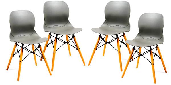 Pack x4 sillas estilo nórdico Home Heavenly Dreams baratas en Amazon