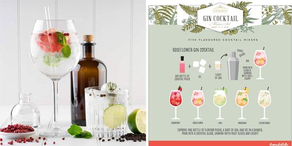 Set x5 Cocktail Mixers de Modern Gourmet Foods de 70 cl/ud chollo en Amazon