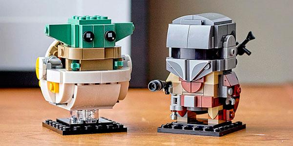 Set El Mandaloriano y El Niño de LEGO Star Wars BrickHeadz barato