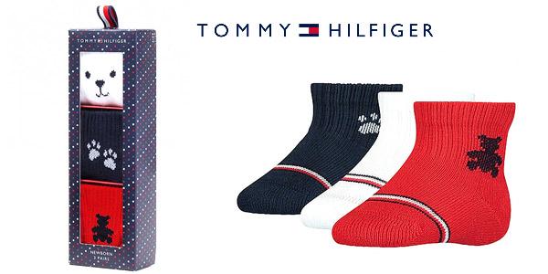Pack x3 calcetines Tommy Hilfiger Newborn para bebés barato en Amazon
