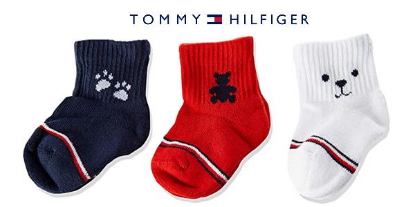 Pack x3 calcetines Tommy Hilfiger Newborn para bebés oferta en Amazon