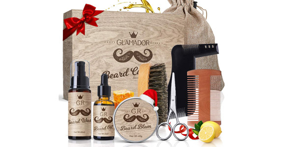 Kit Regalo x9 Piezas Cuidado de Barba Glamador barato en Amazon