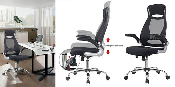 silla de oficina ergonómica ajustable barata