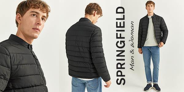 Springfield chaqueta acolchada para hombre chollo