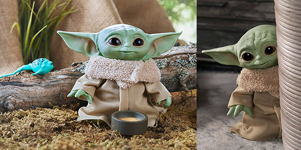 Peluche parlante Baby Yoda de The Mandalorian barato